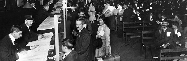 Immigrants at Ellis Island USA